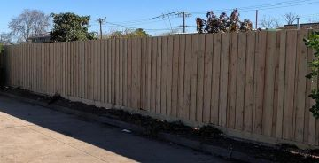 First step: 45m Timber Paling Fence 1.95m High includes a Plinth 150x25mm with Hardwood Posts 125x75mm in Braybrook