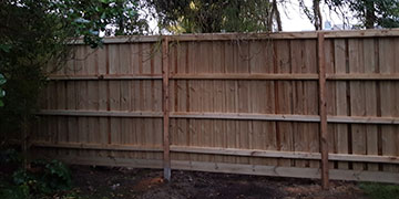 Timber Paling Fence 2.25m High with Capping in Ivanhoe