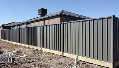 Colorbond Fence, using high quality materials from Bluescope Steel