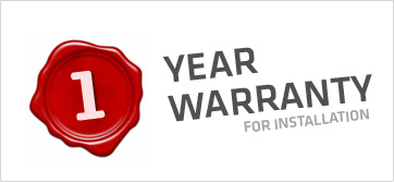 1 year Warranty for Installation
